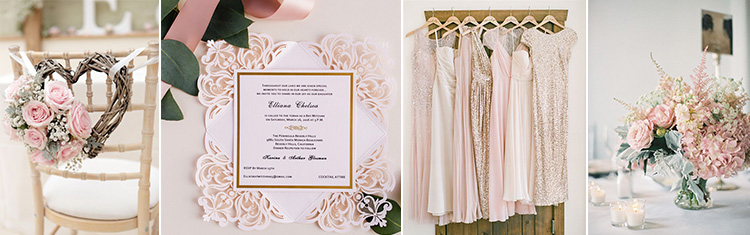 Pink wedding invitations -Elegant Wedding Invites