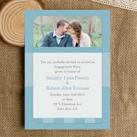 affordable spring blue photo engagement invitations EWEI022