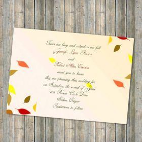 Printable fall leaves save the date cards EWSTD009