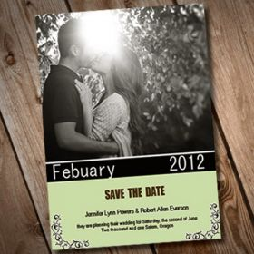 Cheap online save the date with photo EWSTD018