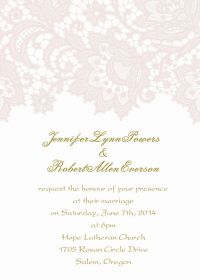 affordable blush pink lace wedding invitation EWI327-2