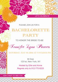 rustic floral inexpensive bachelorette party invitation cards EWBI005