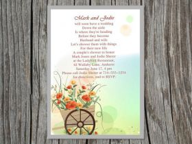 cute flower printable invitations for a bridal shower EWBS002
