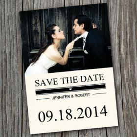 Black and white photo save the date EWSTD040