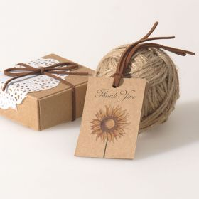sunflower country rustic thank you wedding favor tags EWFR024