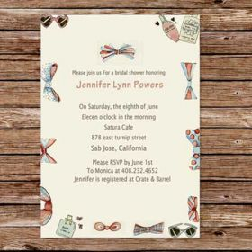 girly chic printable cheap shower bridal invitations online EWBS005