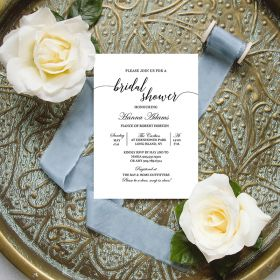 elegant cheap bridal shower invitation EWBS065