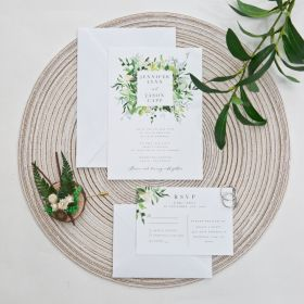 evelyn's garden-lush greenery inspired invitation EWIS001
