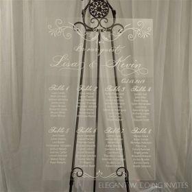 Acrylic Wedding Seating Chart Plan CHIC White Deisgned EWSG003