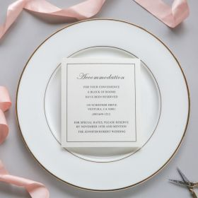 exclusive ivory wedding accommodation cards EWWS200A