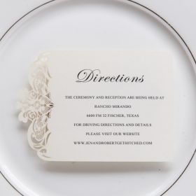 exclusive ivory wedding direction cards EWWS200F