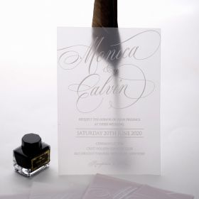 frosted dreams raised uv printing technology on translucent vellum with a classic look EWUV038