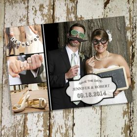 cheap funny photo wedding save the date cards EWSTD048