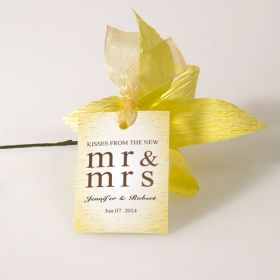 kisses from the new bridal shower wedding favor tags EWFR027