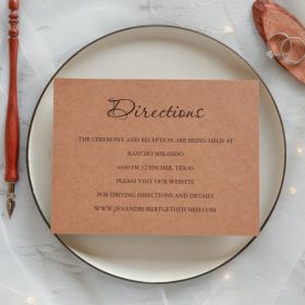 inexpensive rustic wedding direction cards EWWS040F