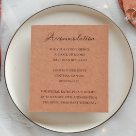 inexpensive rustic wedding accommodation cards EWWS040A