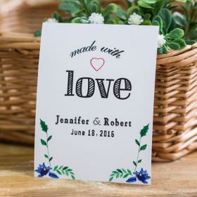 made with love wedding favor tags EWFR039