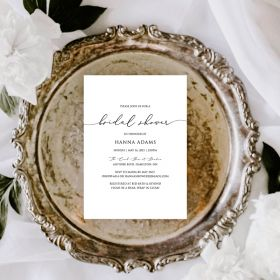 minimal and simply bridal shower invitation EWBS066