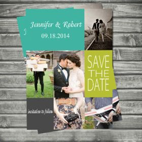 elegant couples photos save the date cards EWSTD047