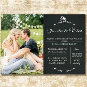 Special Chalk Board Spring Photo Wedding Announcements Cards EWA008