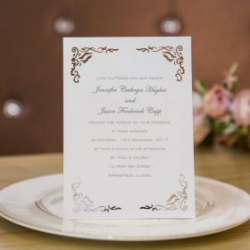 retro pattern laser cut wedding invites EFWS028-1