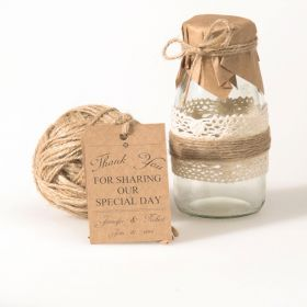 vintage themed wedding favor tags thank you cards EWFR025