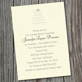 cheap simple cake vintage online bridal shower invitation cards EWBS015