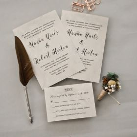 simply classic white wedding invitation with classic styling EWI437-1