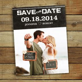 kissing in love photo save the date cards EWSTD034