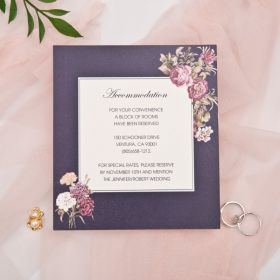Accommodation cards with victorian inspired floral EWWS243A