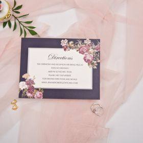 Direction cards with victorian inspired floral EWWS243F