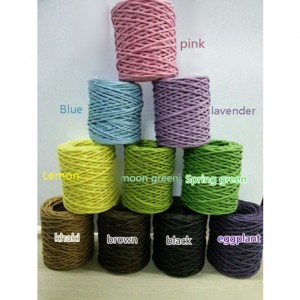 paper twine color card