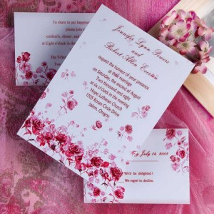 Romantic Wedding Invitations for Spring Weddings