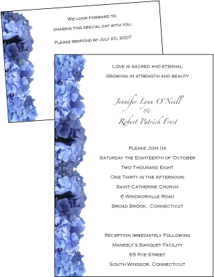 Blue Hydrangeas Invitation