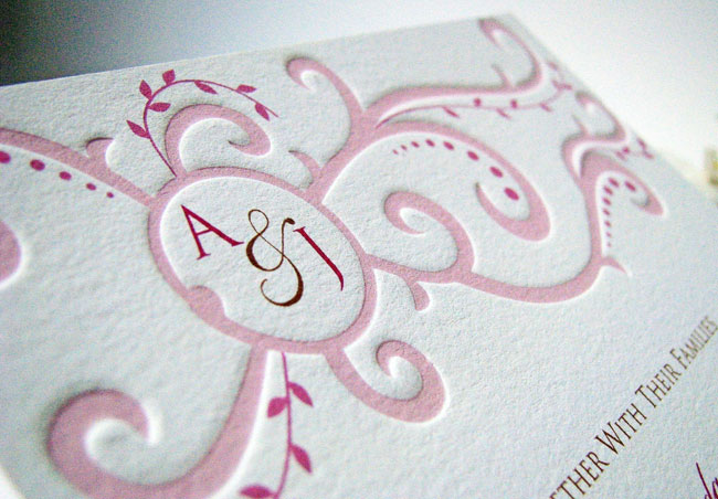 Unique monogram wedding invitations for elegant invites