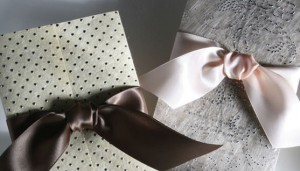 wedding invitation with handmade paper