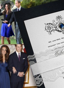 DIY Wedding Invitations inspired by Kate and William