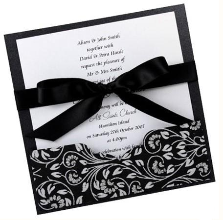 unique contemporary wedding invitation bow tied card you - Modern Wedding Invites