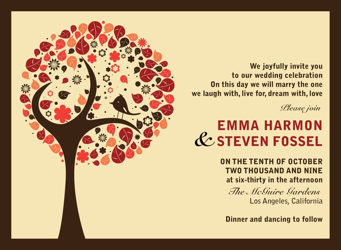 Find your perfect fall wedding themes parte one fall wedding theme invitations stopboris Images