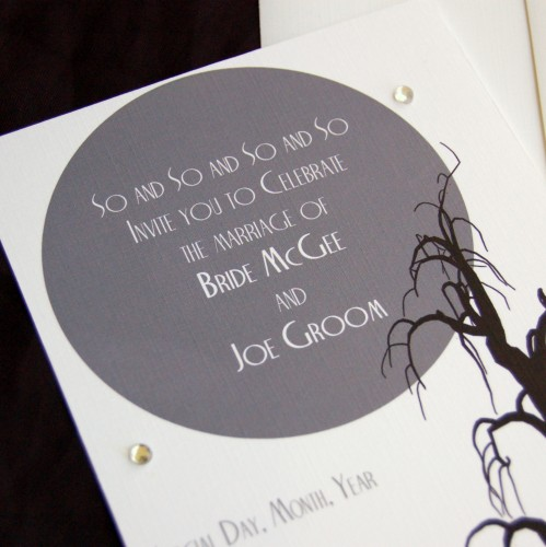 Tips For Choosing Halloween Wedding Invitations