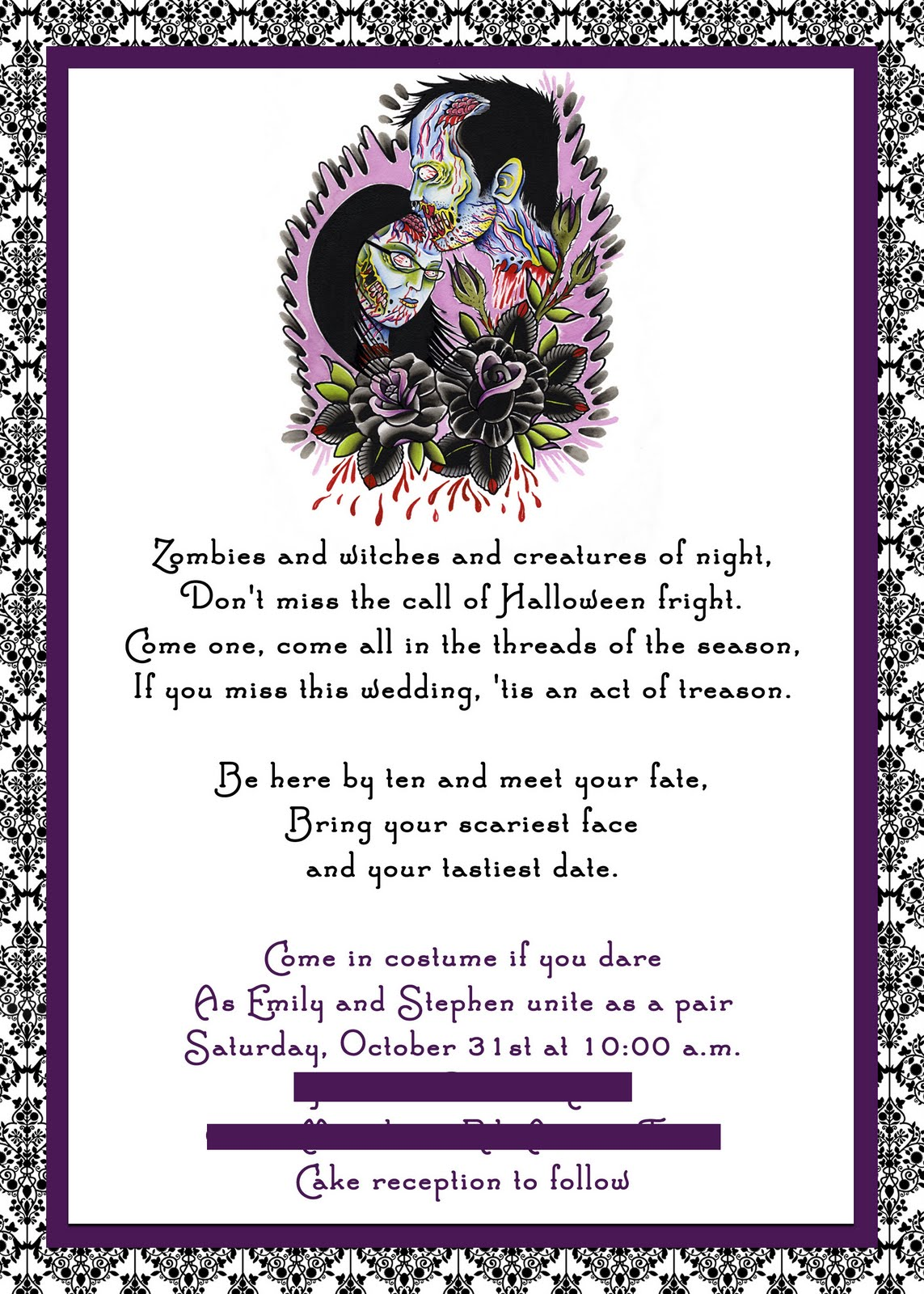 Tips For Choosing Halloween Wedding Invitations ...