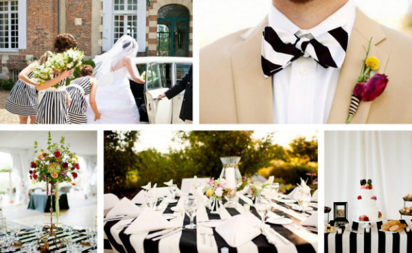 bold stripes wedding theme