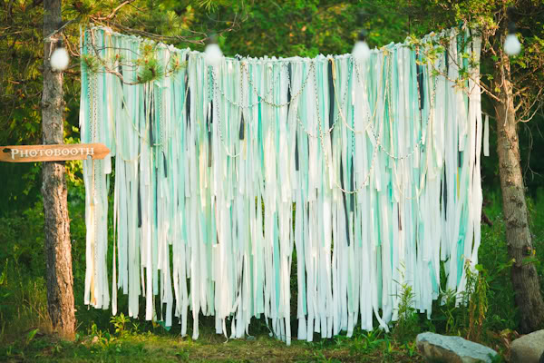 mint green wedding backdrops