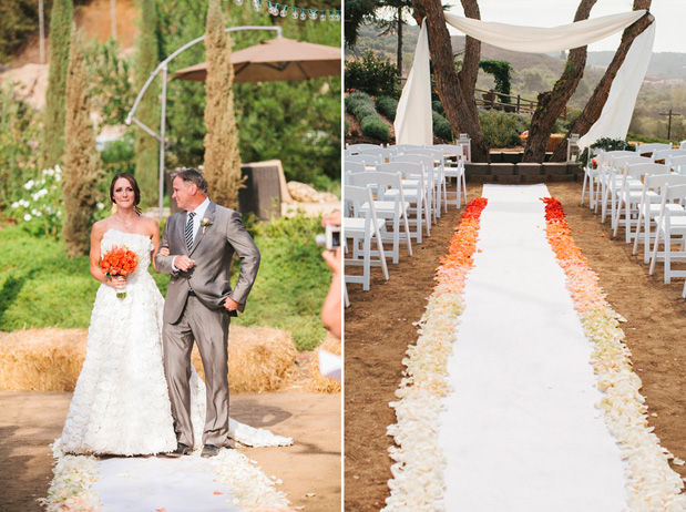 ombre wedding decorations