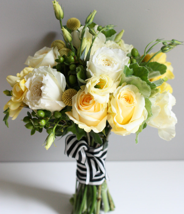 striped wedding bouquets