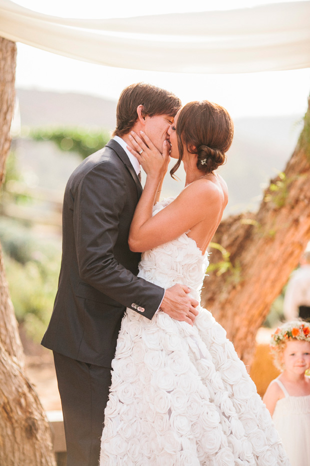wedding kiss ombre