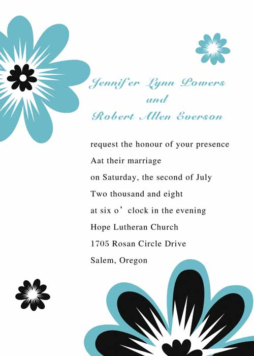 Daisy Blue Summer Wedding Invite