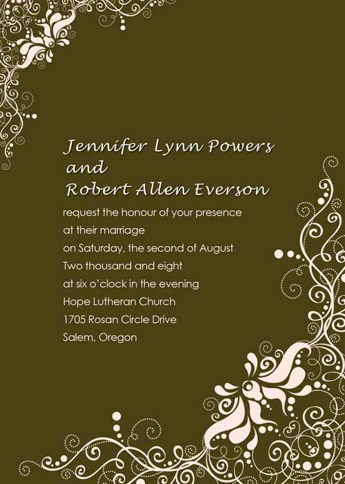 Redneck Wedding Invitations Wedding Invitation Wording