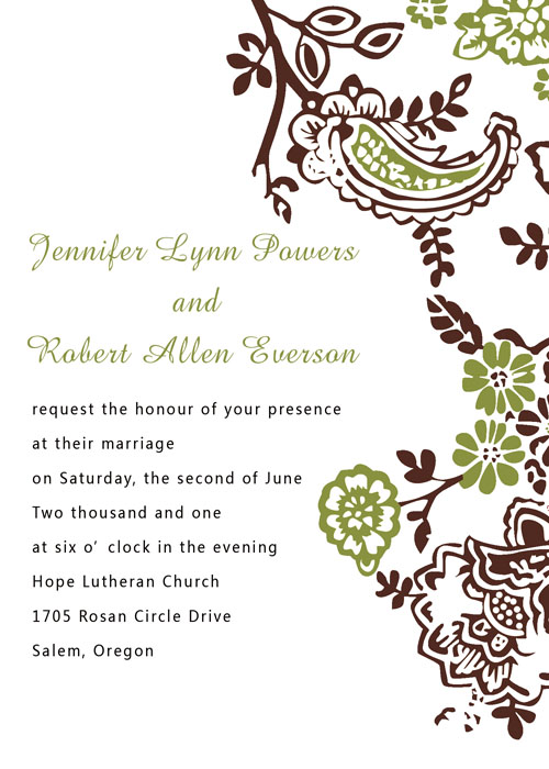 Ethereal Neutrals Wedding Invitation