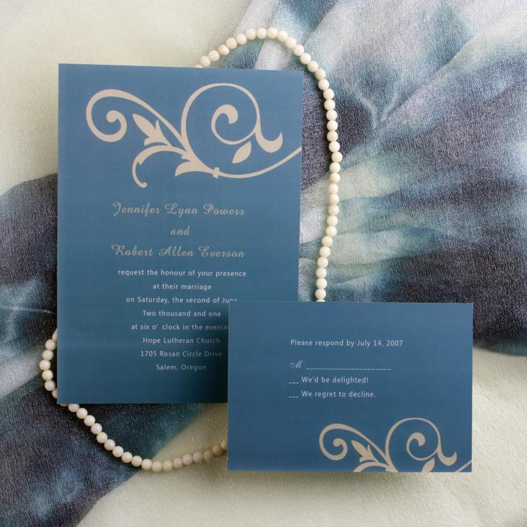 Latest Wedding Color TrendsBlue Wedding Ideas and Invitations